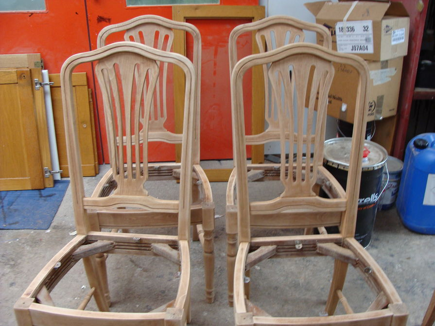 Chairs (DCF) BEFORE - P Adams & Daughter - Adams & Daughter Dublin, French Polishers, Reupholsters, Re