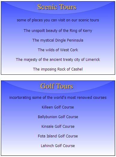 Fitzpatricks of Listowel/Kerry/Coach Tours in Kerry Kerry